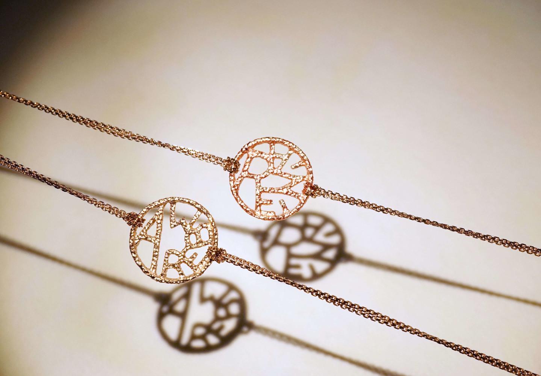 訂製姓名手鍊玫瑰金手鍊訂製首飾訂製飾品