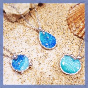 海洋系列-湛藍琺瑯銀飾
